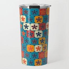 Blobs and tiles Travel Mug