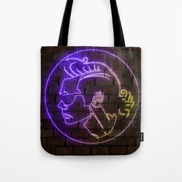 Ace Ventura neon art Tote Bag