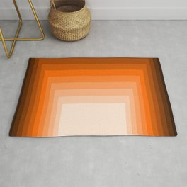 Squares In Warm Color Rug