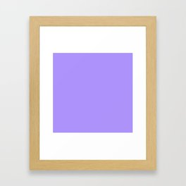The Future Is Bright Lilac - Solid Color - Purple Framed Art Print