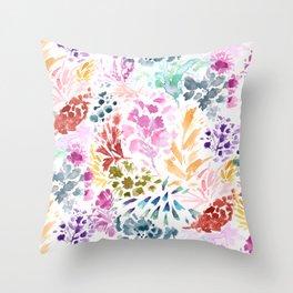 cornelia. watercolor florals. Throw Pillow