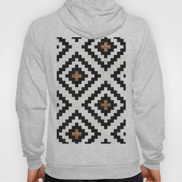 Urban Tribal Pattern No.16 - Aztec - Concrete and Wood Hoody