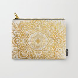 Queen Starring of Mandala-Gold Sunflower Carry-All Pouch