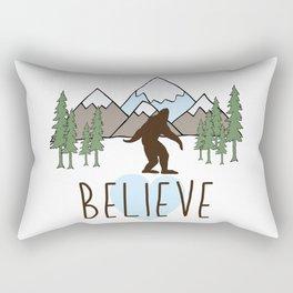 Believe in Bigfoot Rectangular Pillow