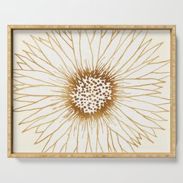 Gold Sunflower Serving Tray