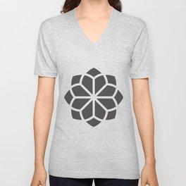 Asian Flower Pattern Unisex V-Neck