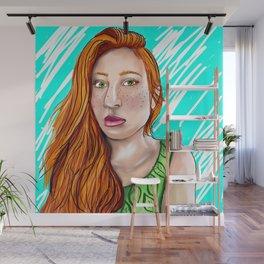 Green-Eyed Girl Wall Mural