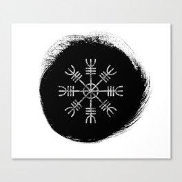 Aegishjalmur | Helm of Awe Icelandic Stave Canvas Print