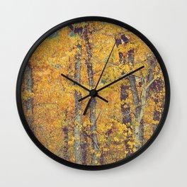 Cottonwood Orange Wall Clock