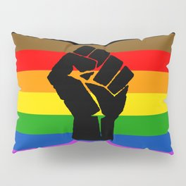 LGBT Pride Flag More Colors Raised Fist (More Pride) Pillow Sham