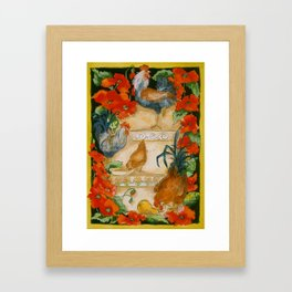 Tuscan Roosters Framed Art Print