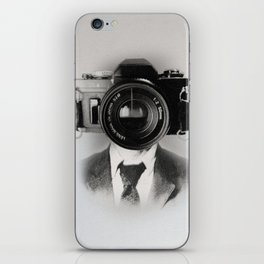 Faces of the Past: Camera _no stripes iPhone Skin