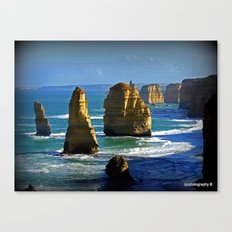 Limestone Rock Stacks - Twelve Apostles Canvas Print