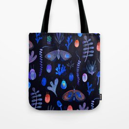 Jungle Moths - Night Tote Bag