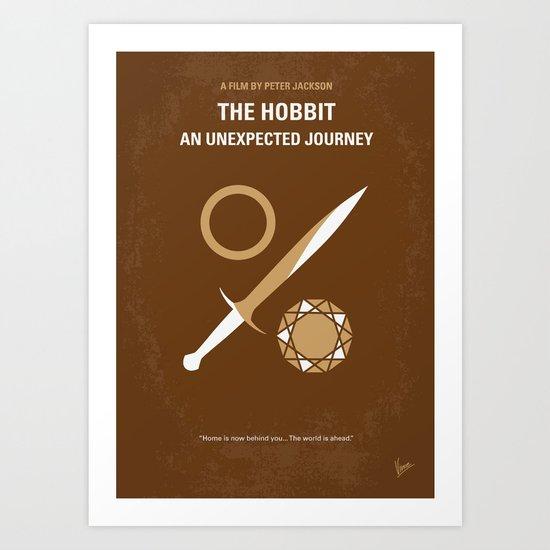 No166 My The Hobbit minimal movie poster Art Print