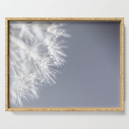 Sparkling dandelion with droplets - Flower water Serving Tray