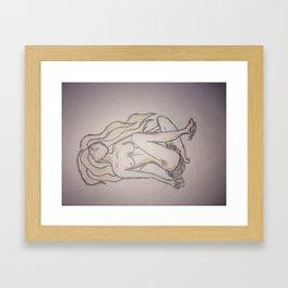 faceless beauty Framed Art Print