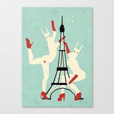 Paris bunnies Canvas Print