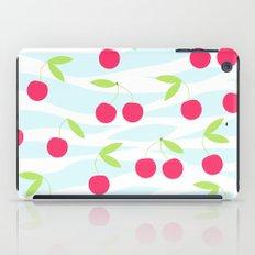 Seamless cherry pattern on striped iPad Case