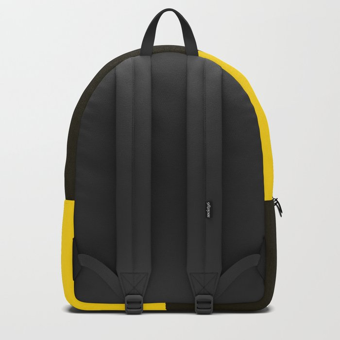 Colorful Umbrella On A Black Mountain In A Yellow Background - #society6 #buyart Backpack