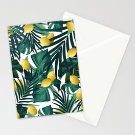 Tropical Lemon Twist Jungle #1 #tropical #decor #art #society6 Stationery Cards