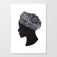 The Exotic of Turban Woman Canvas Print
