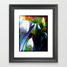Rainbow floral Framed Art Print
