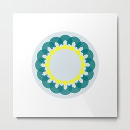 neon kaleidoscope Metal Print