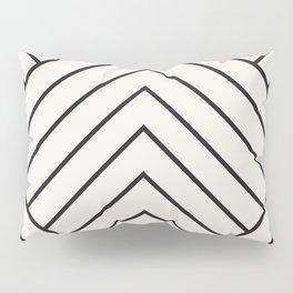 Diamond Series Pyramid Charcoal on White Pillow Sham