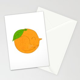 Orange Cat Stationery Cards