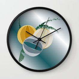 gems and jewels for Christmas Wall Clock
