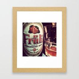 Strawberry Beer Framed Art Print