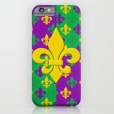 Mardi Gras Fleur-de-Lis Pattern iPhone 6s Slim Case