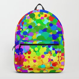 Jittery Summer color dots  Backpack