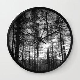 Winter Pine Forest 1 Wall Clock