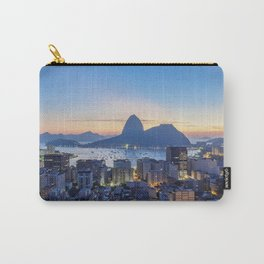 View over Botafogo towards the Sugarloaf Mountain at dawn, Rio de Janeiro, Brazil Carry-All Pouch