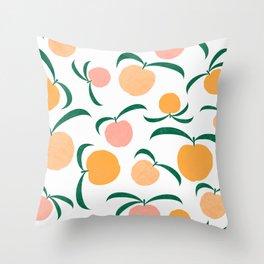 Peach Me Throw Pillow