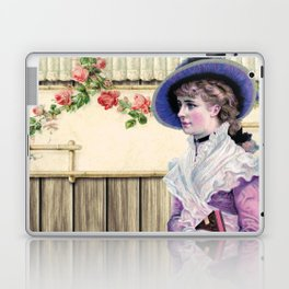 VINTAGE LADY AND ROSES Pop Art Laptop & iPad Skin