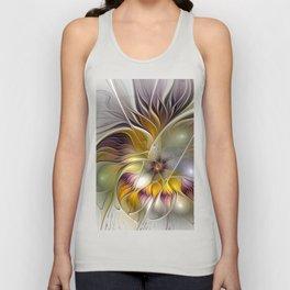 Abstract Fantasy Flower Fractal Art Unisex Tank Top