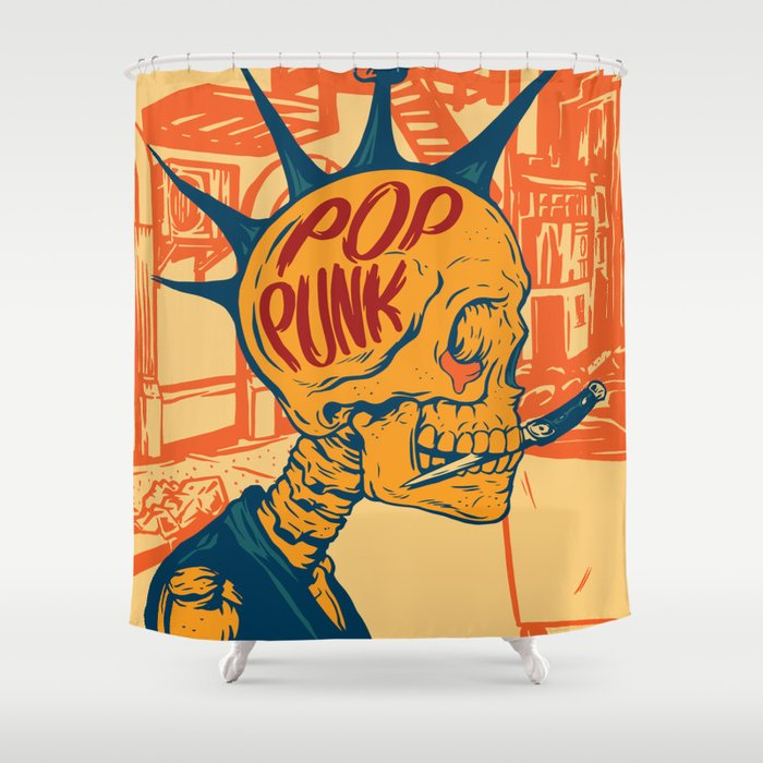 Pop Punk Shower Curtain By Thomcat23