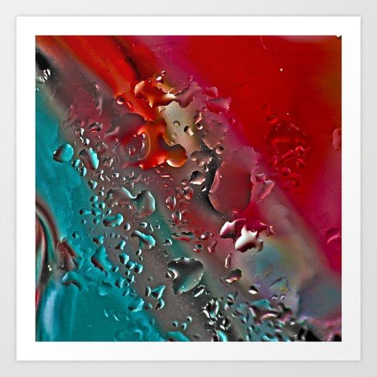 Dew on glass. Art Print