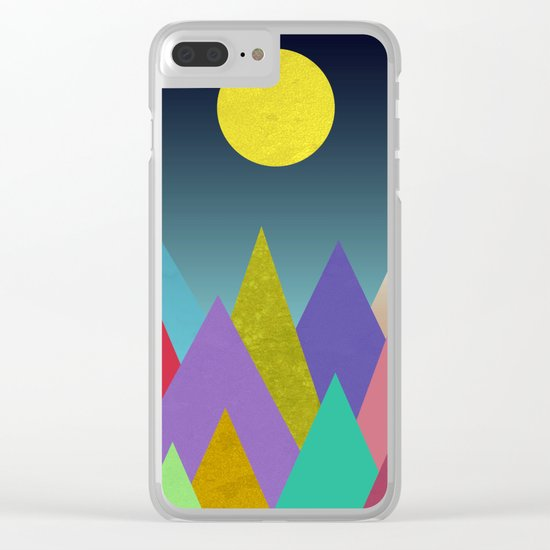 Abstract #443 Clear iPhone Case
