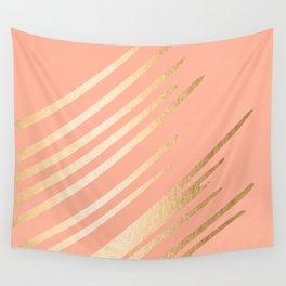 Sweet Life Swish Peach Coral + Orange Sherbet Wall Tapestry