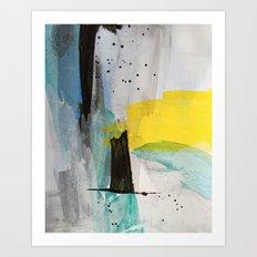 Misty Sunny Morning Art Print