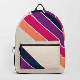 Colorful V Shape Retro Summer Stripes Sosamsin Backpack