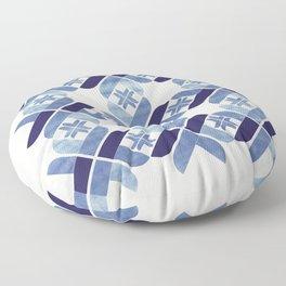 Nordic Blue Floor Pillow