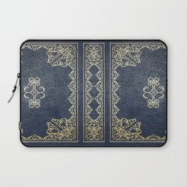 Gilded Gold and Blue Book Laptop Sleeve
