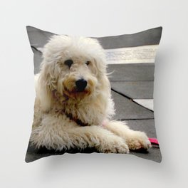 See My New Paw-dicure? Throw Pillow