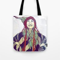 anna Tote Bags featuring AnnA by Andon Georgiev