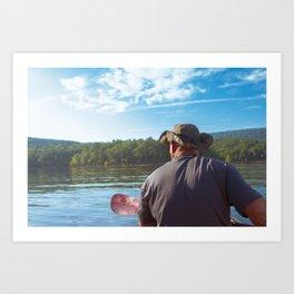Kayak Dad Art Print